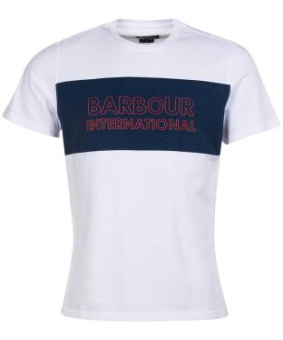 Men's Barbour International Panel Logo Tee - New White