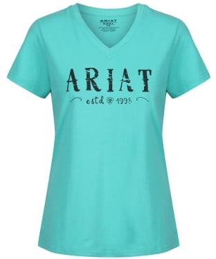 Women's Ariat R.E.A.L. Logo Tee - Waterfall