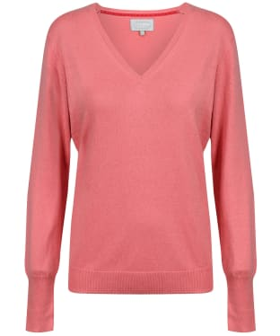 Women's Schoffel Cotton Cashmere V-Neck Sweater - Rose