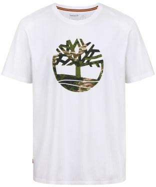 Men's Timberland Kennebec River Seasonal Pattern Tree Logo Tee - White