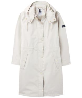 Women's Joules Taunton Long Raincoat - Light Grey