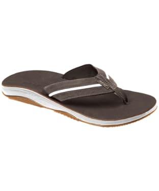 Men's Reef Playa Cervesa Flip Flops - Dark Brown / White