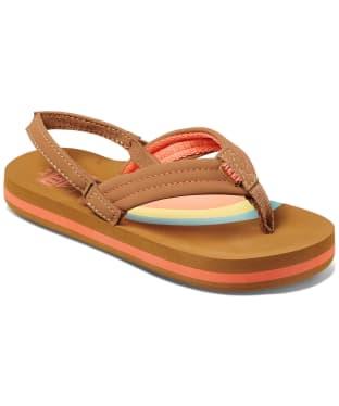 Girl's Reef Ahi Flip Flops - Littles - Rainbow