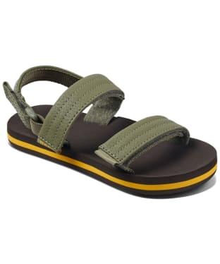 Boy's Reef Little Ahi Convertible Sandals - Littles - Brown / Olive