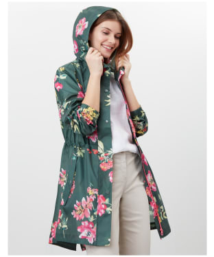 Women's Joules Golightly Packaway Waterproof Jacket - Green Floral