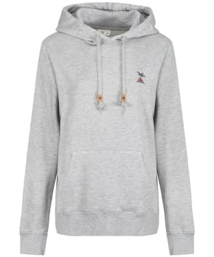 Women's Tentree Palm Sunset Embroidery Hoodie - Hi Rise Grey Heather