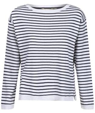 Women's Lily & Me Meadow Stripe Jumper - Silver Marl/Navy Stripe