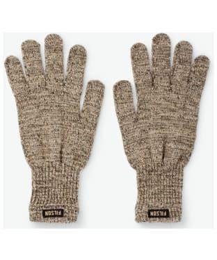 Filson Full Finger Knit Gloves - Root Heather