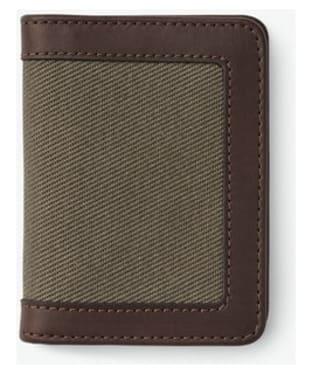 Men's Filson Outfitter Card Wallet - Otter Green