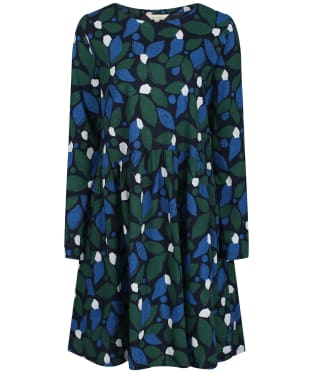 Women's Seasalt Sea Mirror Dress - Collaged Leaves Dark Forage