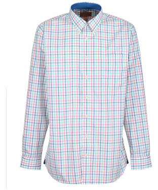 Men's Schoffel Holkham Shirt - MINT/MYKO/CORAL
