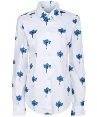 Women's Schoffel Norfolk Shirt - Cornflower Print