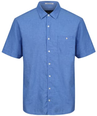 Men's Joules Breaker S/S Shirt - Blue