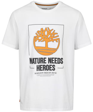 Men's Timberland NHH Front Graphic Tee - White