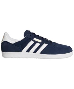 Men's Adidas Leonero Skate Shoes - Navy / White / Gold