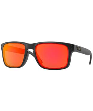 Oakley Holbrook Prizm Ruby Sunglasses - Matte Black
