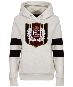 Women's Holland Cooper Crested Hoodie - Ice Grey Marl