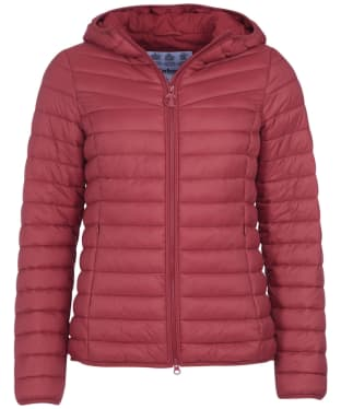 Women's Barbour Hopper Quilted Jacket - Mulberry