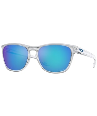 Oakley Manorburn Prizm Sapphire Sunglasses - Polished Clear
