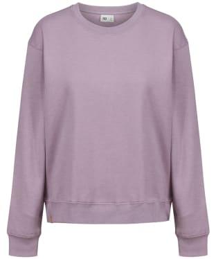Women's Tentree TreeFleece Boyfriend Crew Sweater - Sea Fog Purple