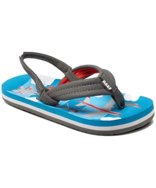 Boy's Reef Ahi Flip Flops - Littles - Blue Planes