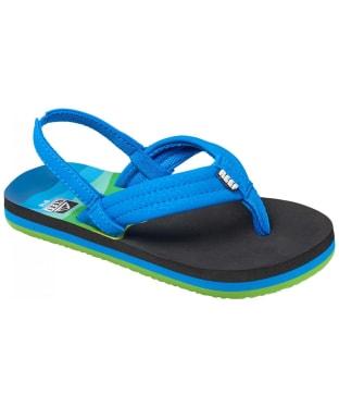 Boy's Reef Ahi Flip Flops - Littles - Aqua Blue