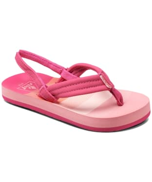 Girl's Reef Little Ahi Flip Flops - Littles - Pink Stripe