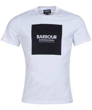 Men's Barbour International Block Tee - White