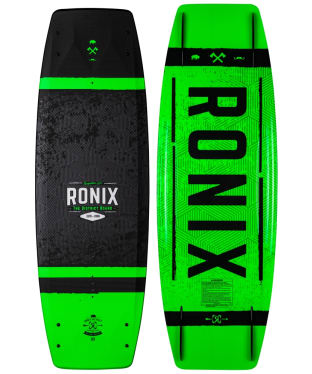 Ronix District Boat Wakeboard - Black / White / Green