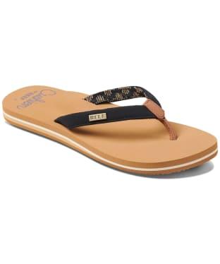 Women's Reef Cushion Sands 2020 Flip Flops - Black / Tan