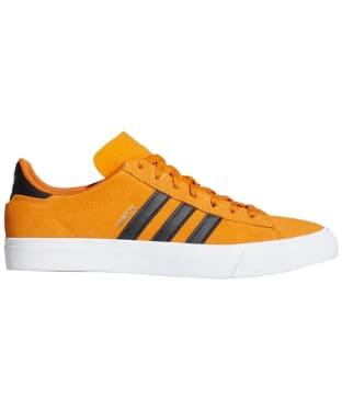 Men's Adidas Campus Vulc II Skate Shoes - Gold / Black / White