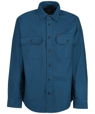 Men's Filson Field Flannel Shirt - Legion Blue