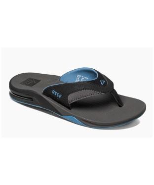 Men's Reef Fanning Flip Flops - Grey / Light Blue