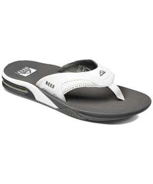 Men's Reef Fanning Flip Flops - Grey / White