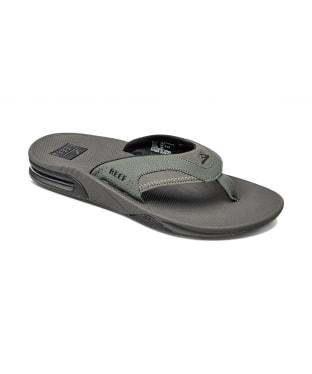 Men's Reef Fanning Flip Flops - Grey / Black
