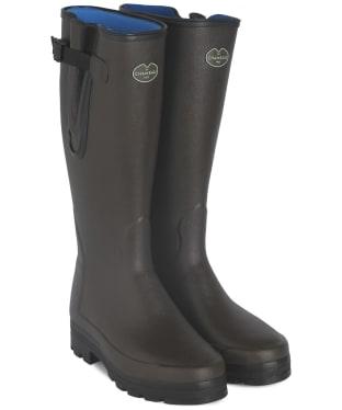 Men's Le Chameau Vierzonord Neo Wellington Boots - 43 cm calf - Marron Fonce