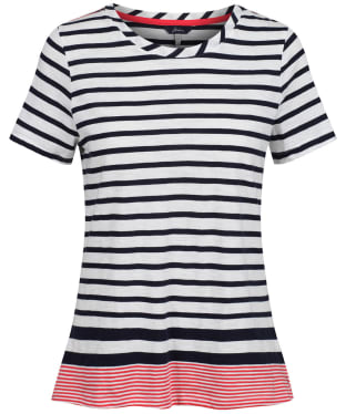 Women's Joules Carley Stripe T-Shirt - Navy / Creme / Red