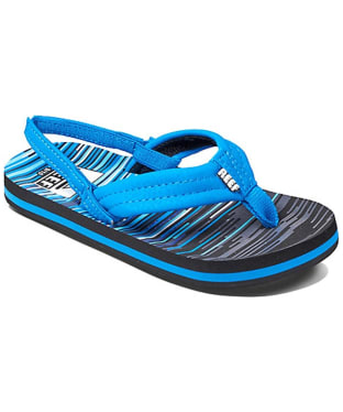 Boy's Reef Ahi Flip Flops - Littles - Blue Lines