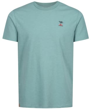 Men's Tentree Palm Sunset Embroidery T-Shirt - Sea Cliff Blue