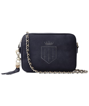 Women's Fairfax & Favor Finsbury Cross Body Bag - Navy Suede