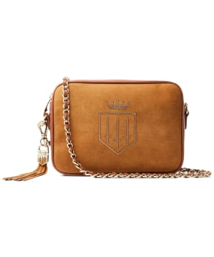 Women's Fairfax & Favor Finsbury Cross Body Bag - Tan Suede