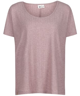 Women's Tentree Ribbed Scoop Neck T-Shirt - Twilight Mauve Heather