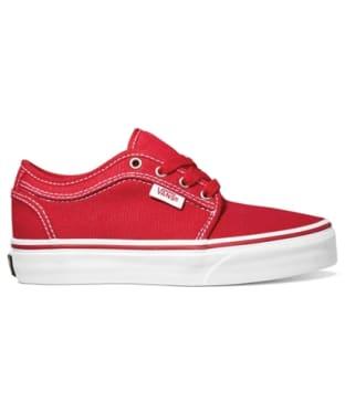 Vans Chukka Low Youth Skate Shoes - Red / Khaki / White
