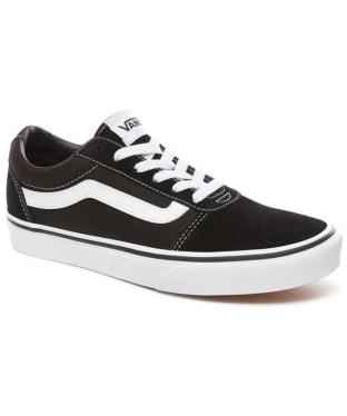 Women's Vans Ward Suede/Canvas Skate Shoes - Black / White