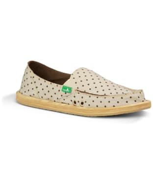 Women's Sanuk Hot Dotty Sandals - Natural Brown Dot