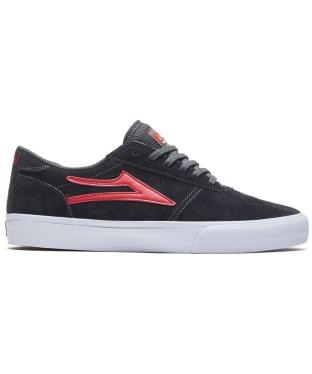 Men's Lakai Manchester Skateshoes - Charcoal / FLM Suede