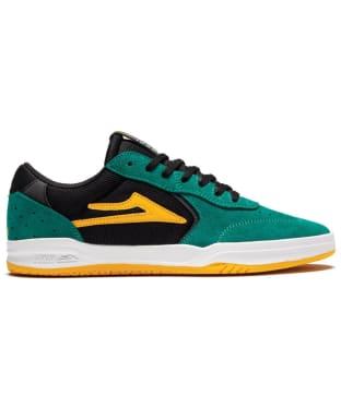 Men's Lakai Atlantic Skateshoes - Jade / Black Suede