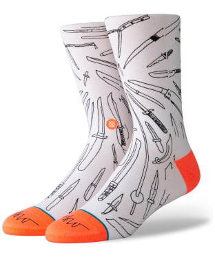 Men's Stance Oblow Poke Street Socks - White
