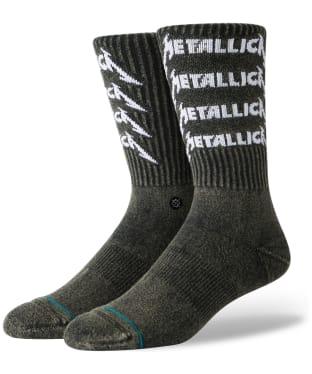 Men's Stance Metallica Stack Street Socks - Black
