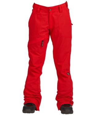 Women's Nikita White Pine Snowboard Pants - Red